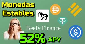 Lee más sobre el artículo 🤯 Gana 52% Anual con tus MONEDAS ESTABLES en #Beefy.Finance !!!