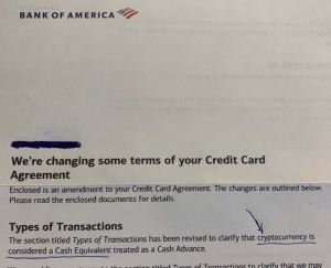 Lee más sobre el artículo Bank of America está tratando Bitcoin, Ether como «efectivo», le permitirá comprar criptografía con tarjetas de crédito