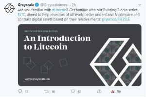Lee más sobre el artículo Grayscale hablando sobre LITECOIN