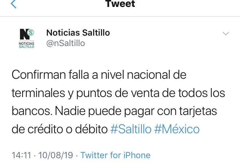 En este momento estás viendo Nadie puede pagar con tarjetas en Mexico