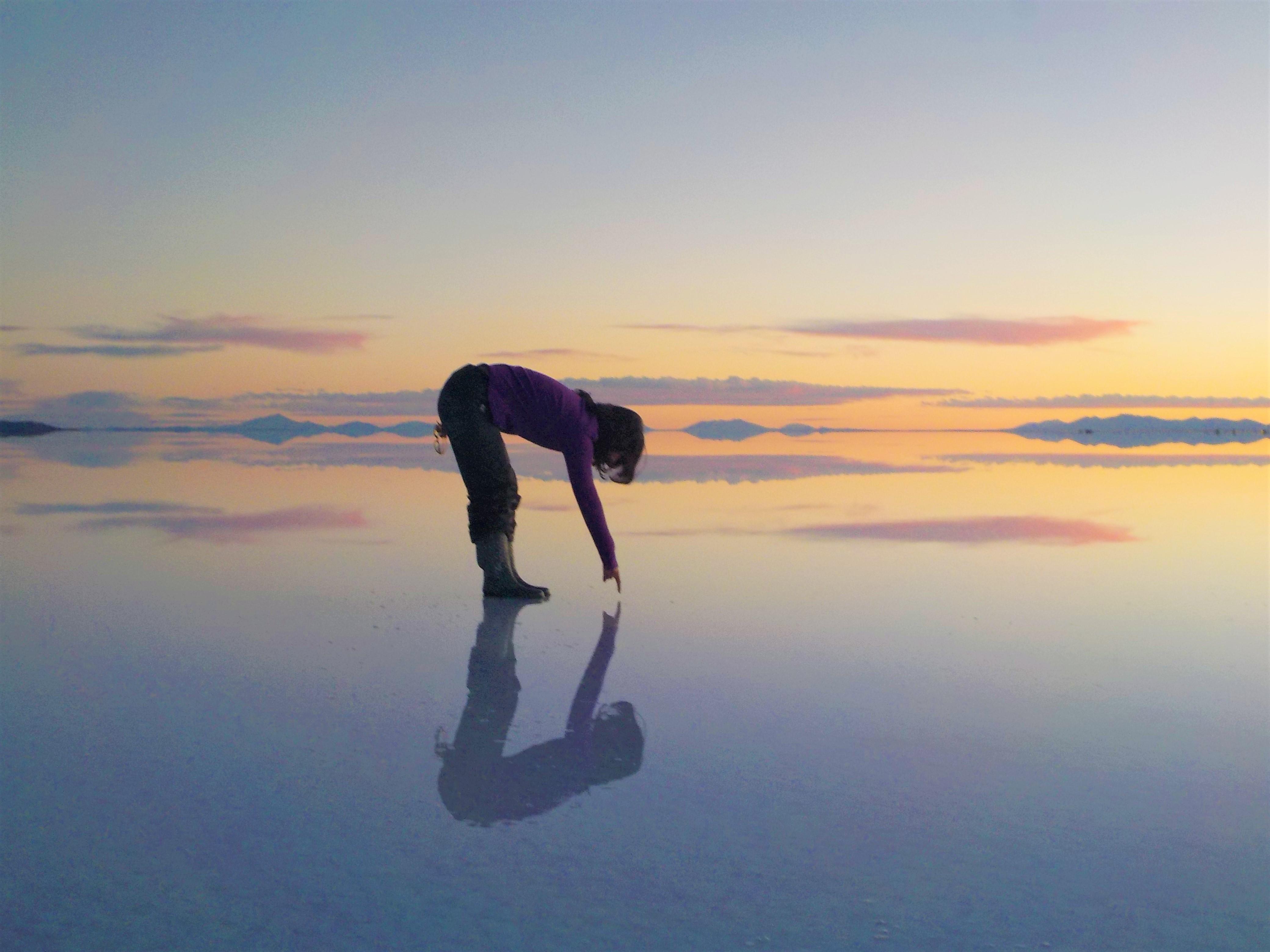 Reflejos de agua, Salar de Uyuni, Bolivia