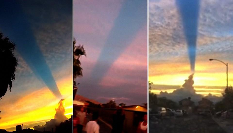 ¡El cielo se divide en dos! Aparece extraña linea en el cielo de las Vegas