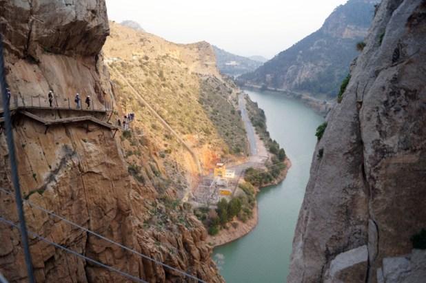 Pasarelas. paisajes naturales de Andalucía