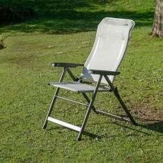 Butaca Camping Aluminio Respaldo Alto SLIM Grege