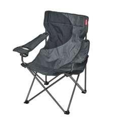 Sillón de camping ACERO gris/negro