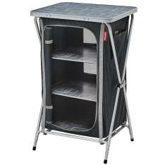 Mueble de almacenaje plegable Gris/Negro