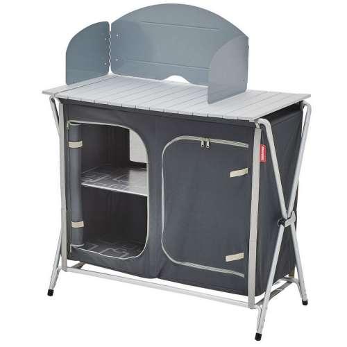 mueble cocina plegable gris negro 2