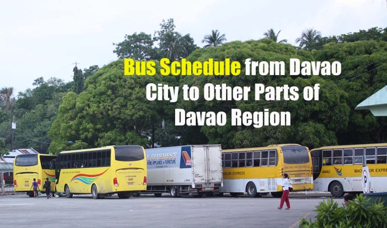 Bus Schedule from Davao City to Other Parts of Davao Region