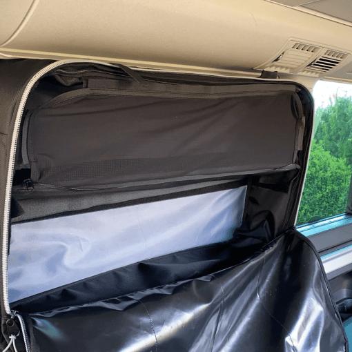 Fenstertasche mit Unterteilungen