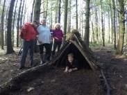Team shelter building
