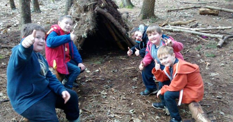 kids bushcraft birthday party cardiff
