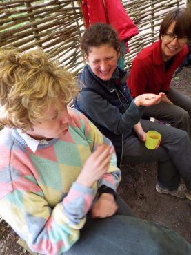 Giggles in the bushtucker trials