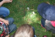Outdoor games - noughts and crosses