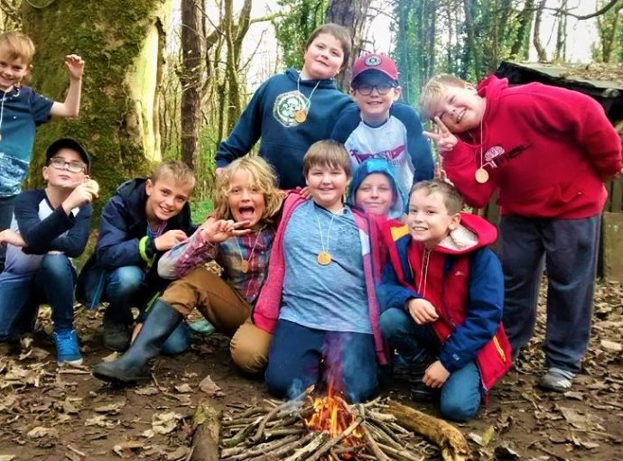 Kids bushcraft birthday party