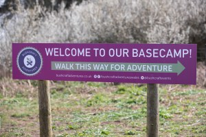 Bushcraft Adventures welcome sign