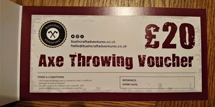 Axe Throwing Gift Voucher
