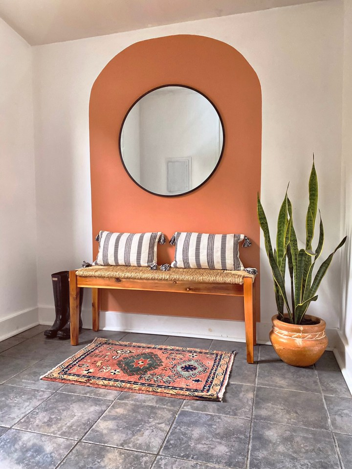 DIY Painted Wall Arch