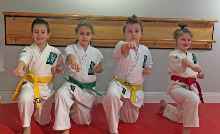 kids in karate uniforms