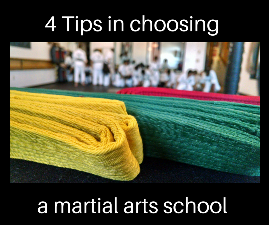 choosing a martial arts school