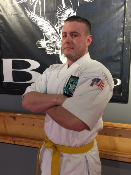 picture of male with karate uniform