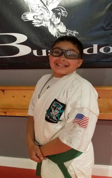 karate spotlight student