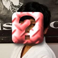 karate boy hidden by question mark