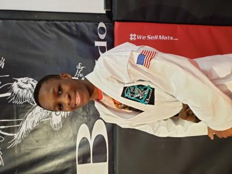 teenager in karate gi