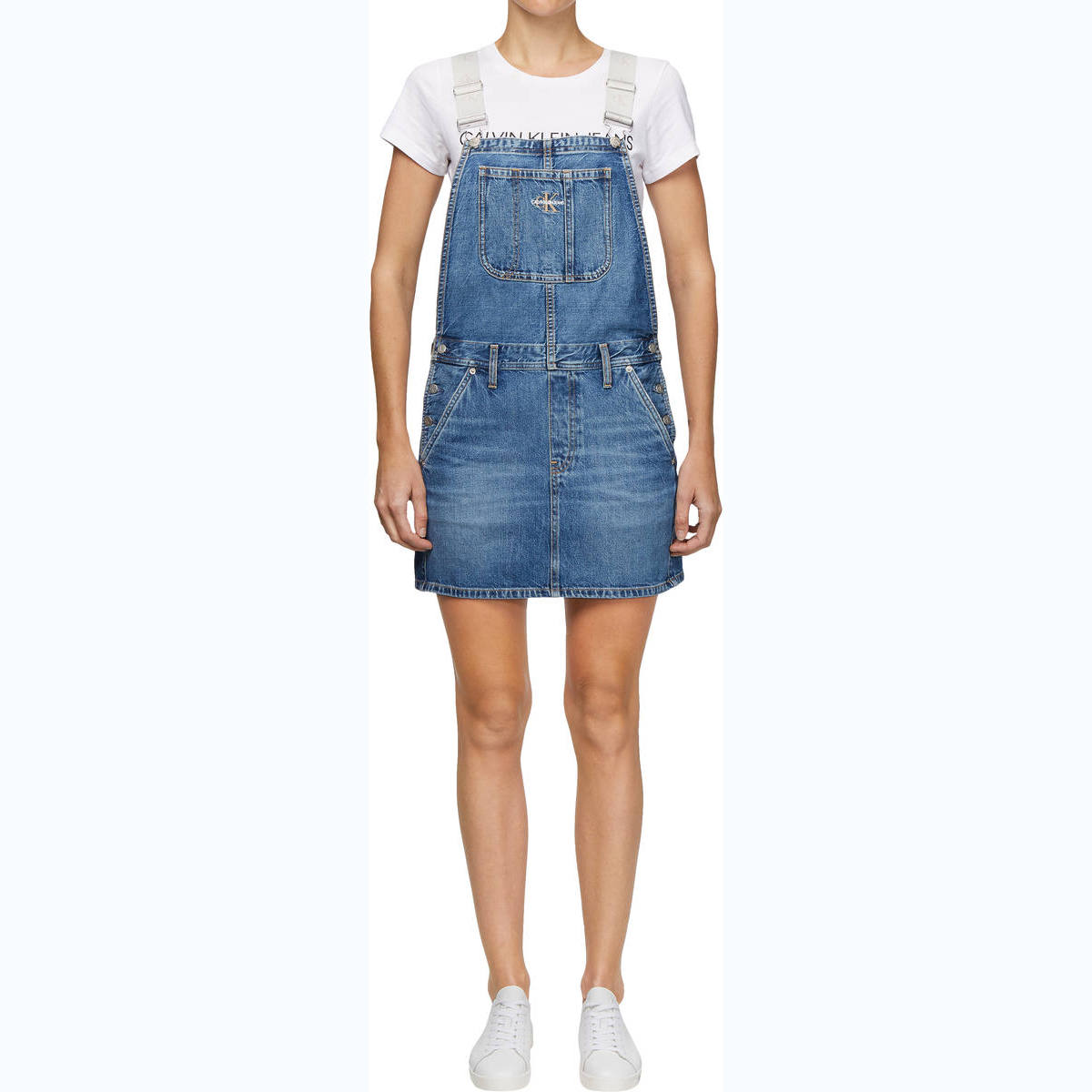 ICONICS DUNGAREE DRESS