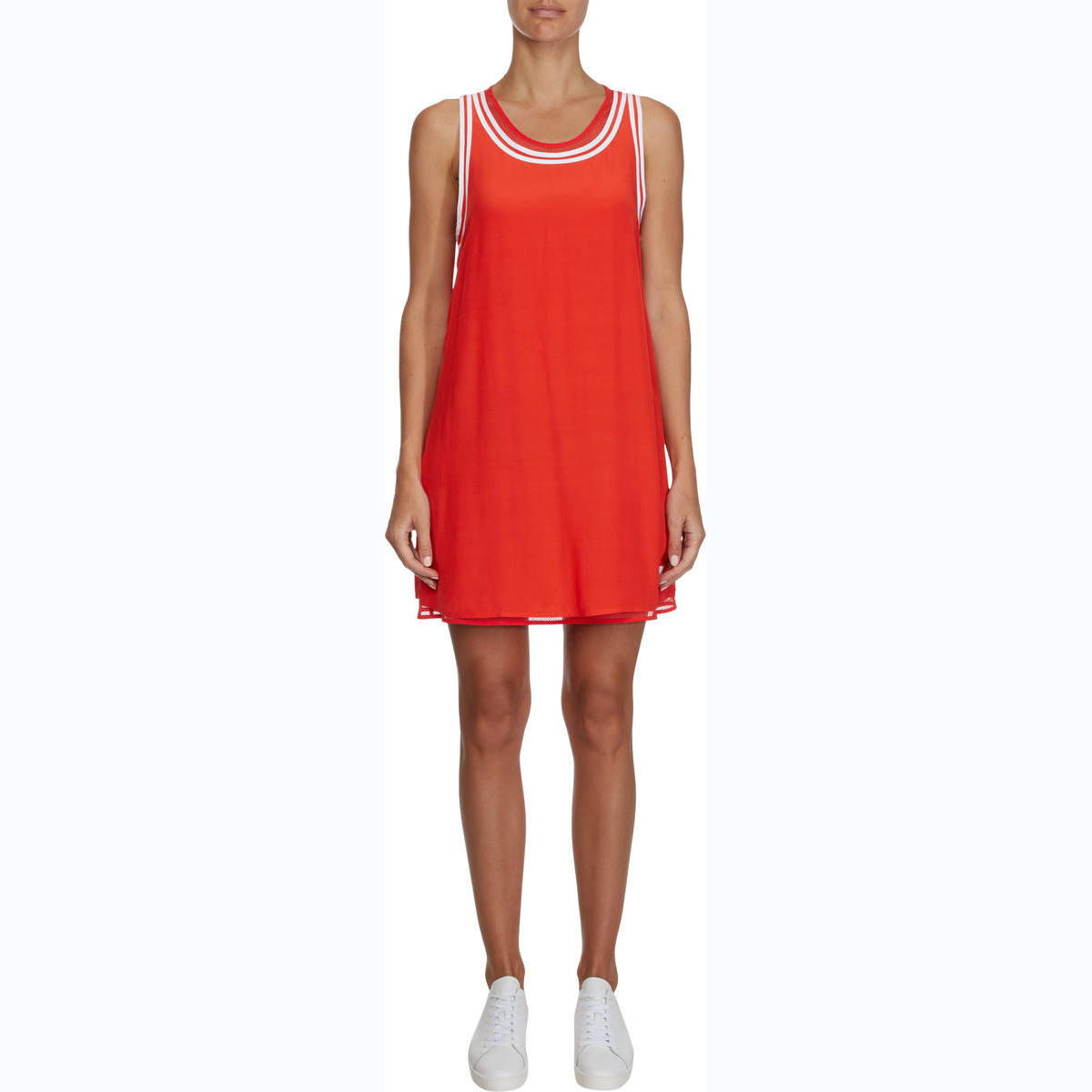 TANK DRESS WITH MESH LINING