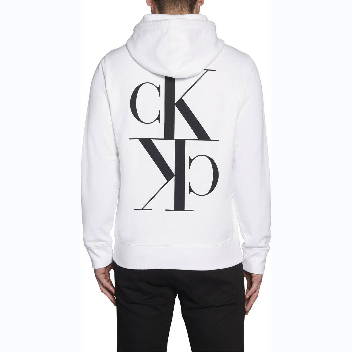 Back Mirrored Monogram Hoodie