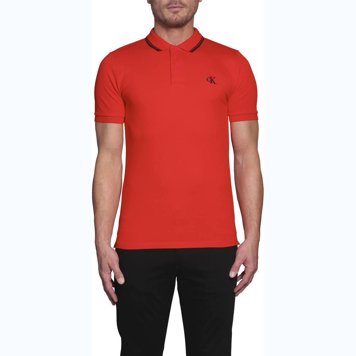 CK ESSENTIAL TIPPING SLIM POLO