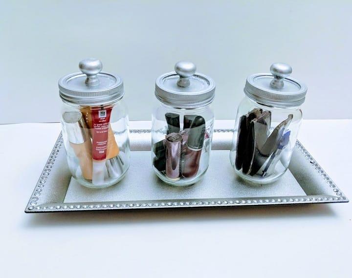 DIY mason jar organizer 4
