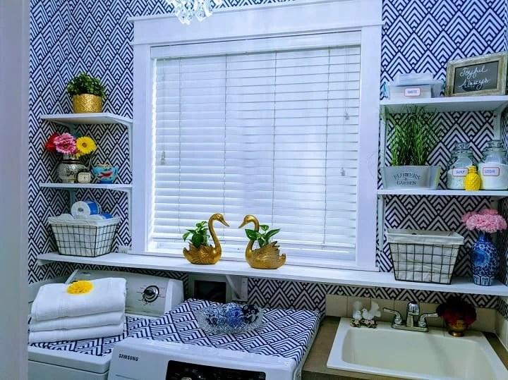 wallpaper for laundry room