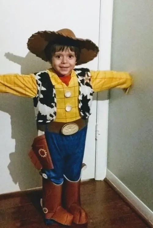 Woody from the toy story
