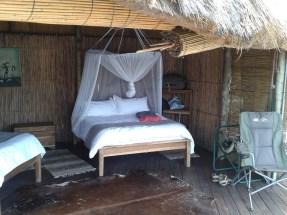 The bedroom.