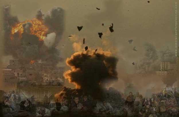 Israel attacks Gaza, December 2008
