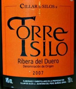 Cillar de Silos Torre Silo 2007; top Ribera del Duero from highly respected winemaker; great price