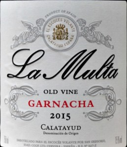 La Multa old vine Garnacha gives you a lot of wine at this price point. Spicy, gutsy garnacha, conentrated damson and blackberry fruits. Brilliant with sausages, casseroles, bbqs