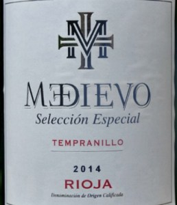Medievo Selección Especial 2014; smooth, elegant Rioja with perfect oak finish. Great structure and finesse at a great price.