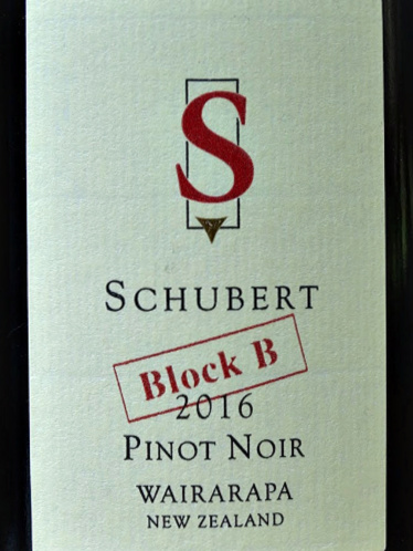 Schubert Block B Pinot Noir 2016, rated Outstanding Decanter Magazine February 2020. Concentrated, complex combining sweet cherry fruit with classic textured pinot fruit. Juicy, elegant, savoury, fantastic length. A stunning Pinot Noir. 95 points.