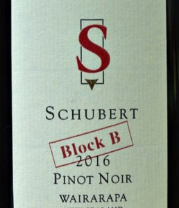 Schubert Block B Pinot Noir 2017, has received stunning reviews: 95 points. Concentrated, complex combining sweet cherry fruit with classic textured pinot fruit. Juicy, elegant, savoury, fantastic length. A stunning Pinot Noir drinking to 2026.