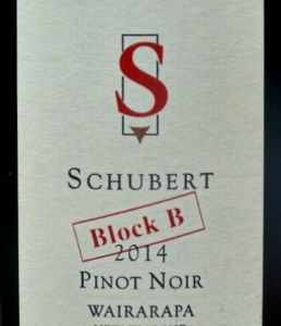 Schubert Block B Pinot Noir 2014 is an absolutely stunning Pinot Noir from an excellent vintage. 94 Parker Points. It comes from some of the most mature vineyards in New Zealand near Martinborough. Wairarapa is renowned for its wonderful Pinot Noir and Kai Schubert makes some of the very best Pinots at a great price compared with Burgundy. Rich and complex.