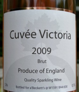 a'Becketts Cuveé Victoria 2009; deliciously dry, refreshing English Sparkling Brut Rosé at a great price
