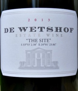 Fresh, elegant Burgundy style Chardonnay with subtle oak. The Site made by Top South Africa producer De Wetshof 93 points Tim Atkin Reports. Stunning, complex, outstanding. Recommended by Andrew Jefford in Decanter.
