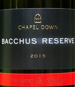 Chapel Down Bacchus Reserve 2015; limited edition Bacchus with great intensity and freshness. A stunning English wine, similar in style to a Sancerre or a NZ Marlborough Sauvignon. English wine at its best. Drink to 2019.
