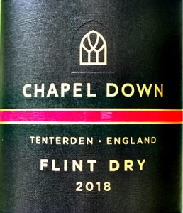 Chapel Down Flint Dry 2018; terrific vintage, aromatic dry white, bags of fruit. Flavours of nectarine and elderflower.; impressive long finish. Very good value English wine