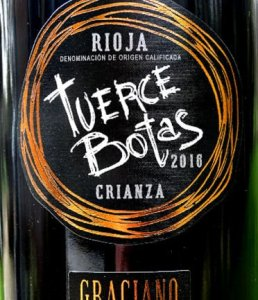 Tuerce Botas Crianza 2016 complex Rioja Crianza from the wonderful Graciano grape. Complex aromas of almonds, cherries, black fruits, balsam and toasty cedary oak. textured, intense flavours of ripe cherry fruit and spice; excellent length. A stylish Rioja Crianza that is a real treat. 12 months French oak; limited production. Top 100 Riojas 2019.