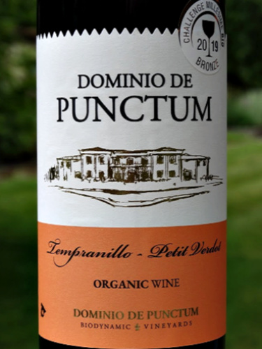 Dominio de Punctum Tempranillo/Petit Verdot 2018; stylish, attractive red from Spain. organic and biodynamic, brilliantly fruity and complex at this price. excellent length. a must-try wine; full of character.
