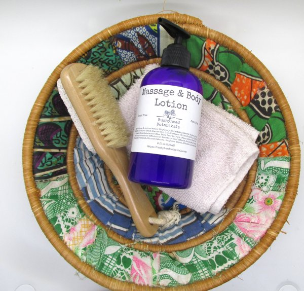 massage and body lotion