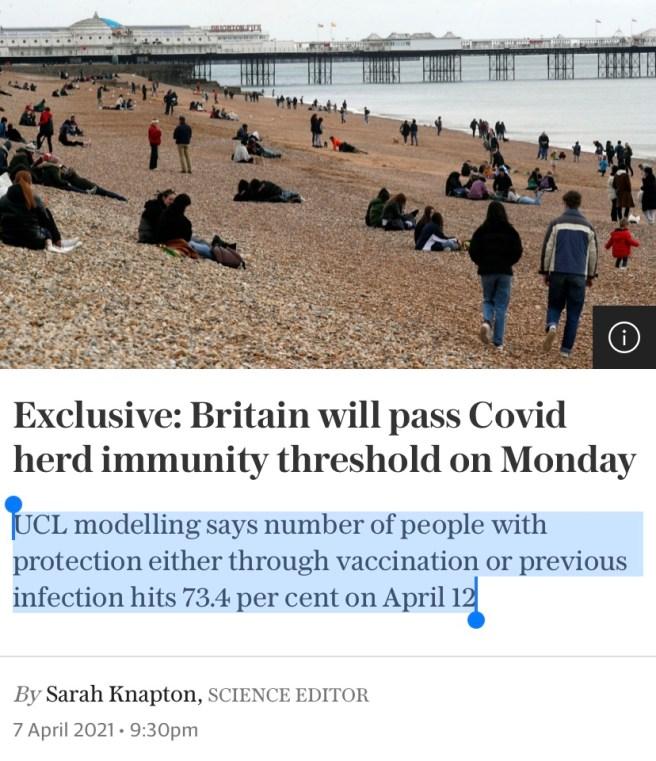 Immunité collective au Royaume-Uni